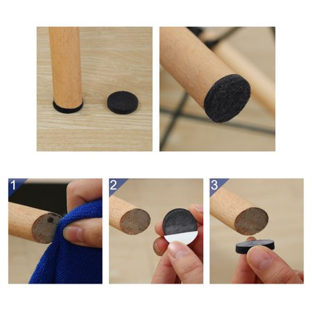 "Furniture Felt Pads Round 1 3/4"" Anti-scratch for Furniture Closet Black 32pcs - image 6 de 7"