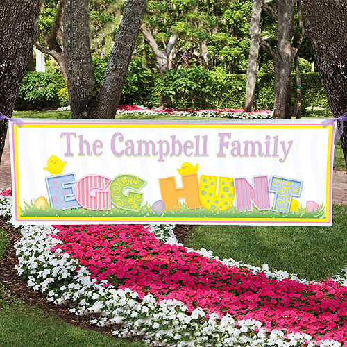 Personalized Family Easter Egg Hunt Banner