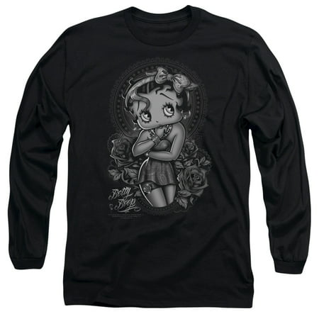 Betty Boop Clothes (Betty Boop Fashion Roses Mens Long Sleeve)