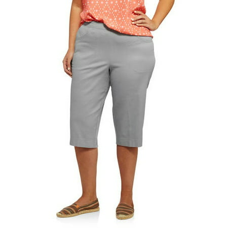 ced855ed77a Just My Size - Women s Plus-Size 2 pocket Pull-On Capri - Walmart.com