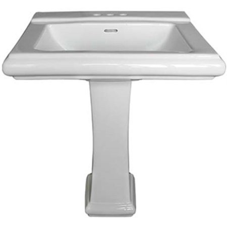 Part Jd10-R2620W Basin Rio Pedestal Wht, by Compass, Single Item, Great Value, N