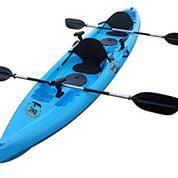BKC UH-TK181 12.5 foot Sit On Top Tandem Fishing Kayak Pa...