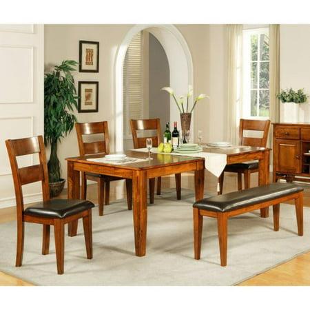 Steve Silver Mango 6 Piece Dining Table Set Light Oak
