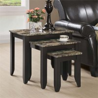Monarch Nesting Table 3Pcs Set / Cappuccino Marble Top