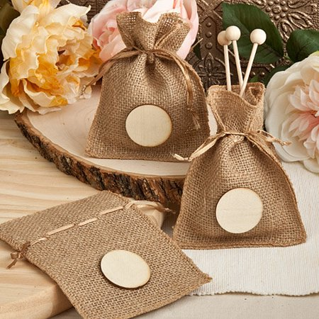 144 Burlap Favor Bags from the Perfectly Plain Collection](Burlap Favor Bags)