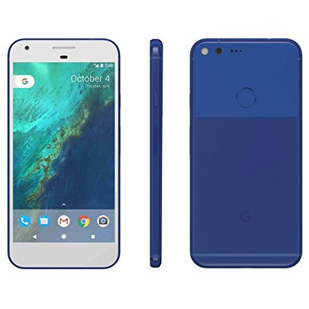 Refurbished Google Pixel 32GB Really Blue (Unlocked Verizon AT&T T-Mobile) Pure Android Smartphone ()