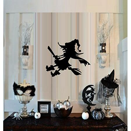 HALLOWEEN DECOR ~ WITCH ON BROOM Goofy ~ HALLOWEEN: WALL OR WINDOW DECAL, 13