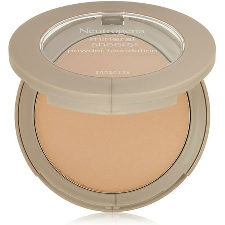 Sheer Finish Compact Foundation - Neutrogena Mineral Sheers Powder Foundation, Soft Beige [50] 0.34 oz