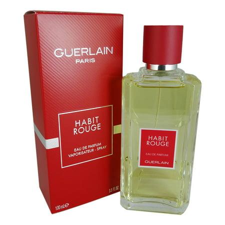 Guerlain Habit Rouge For Men By Guerlain 33 Oz Edp Walmartcom
