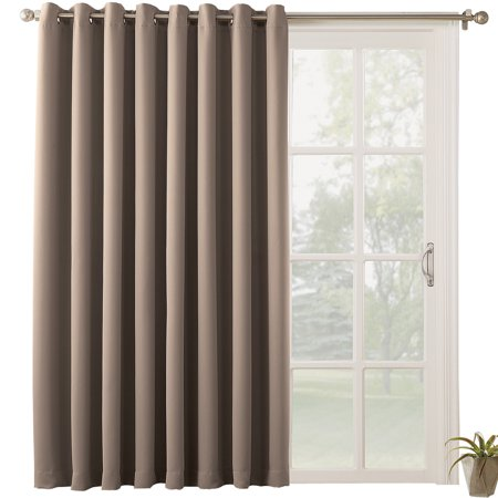 Energy Saving Blackout Patio Door Curtain Panel, 99% Light Blocking, 84 X 100 Inches ()