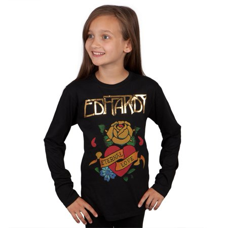 Ed Hardy - Eternal Love Girls Youth Long Sleeve