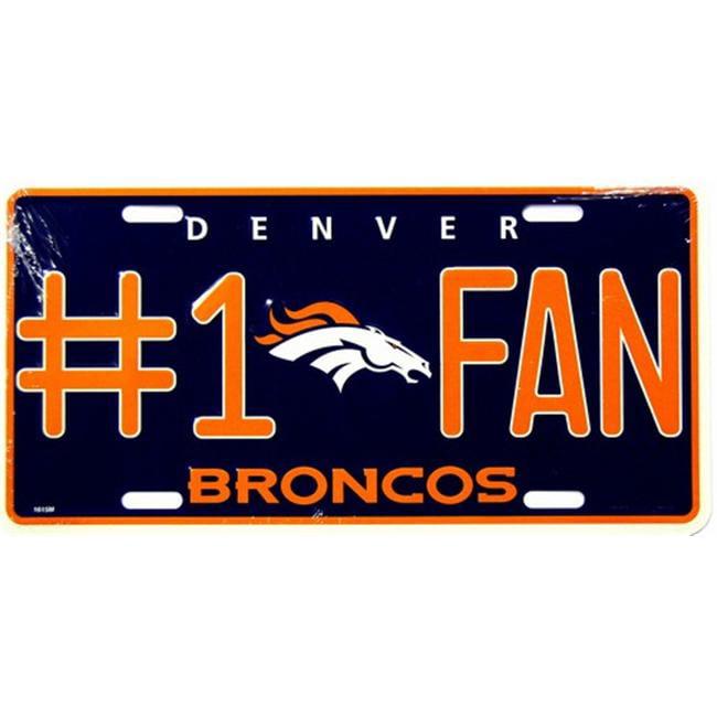 LP - 720 Broncos No. 1 Fan License Plate - 1610M