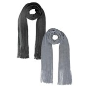 Long Shimmery Mesh Scarf Wrap 2-Pack Set