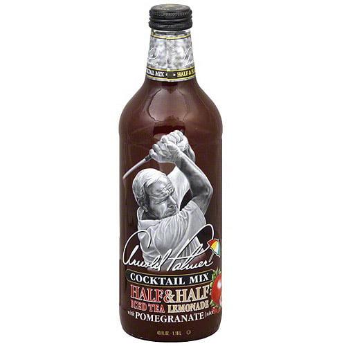 Arizona Arnold Palmer Half & Half Iced Tea Lemonade With Pomegranate Juice Cocktail Mix, 40 oz (Pack of 6)