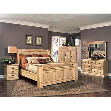 Image of A-America Amish Highlands 3 Drawer Nightstand