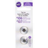 Wilton Left Handed Decorating Tip Set, Drop Flower, #106 & #107 418-613