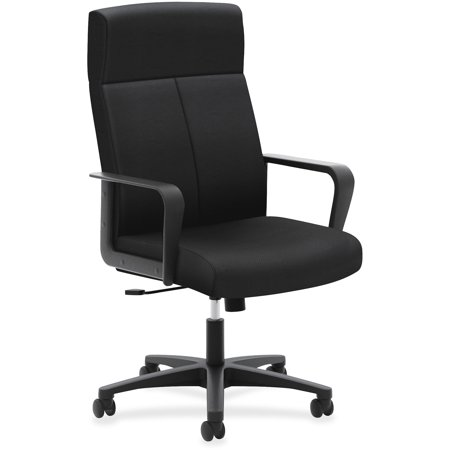 basyx VL604 Series High-Back Executive Chair, Black (Chair Black Tectonic Fabric)