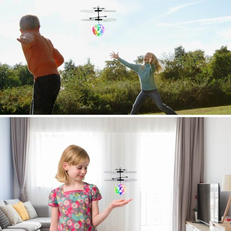 2 PackFlying Ball, Kids Toys Hand Control Helicopter Mini Infrared Induction Drone Magic RC Flying Light Up Toys Charge for 20 minutes and play for 7 minutes ()