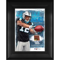"D.J. Moore Carolina Panthers Framed 5"" x 7"" Player Collage with a Piece of Event-Used Football"