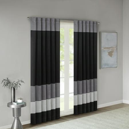 Home Essence Salem Polyoni Pintuck Lined Window Panel ()
