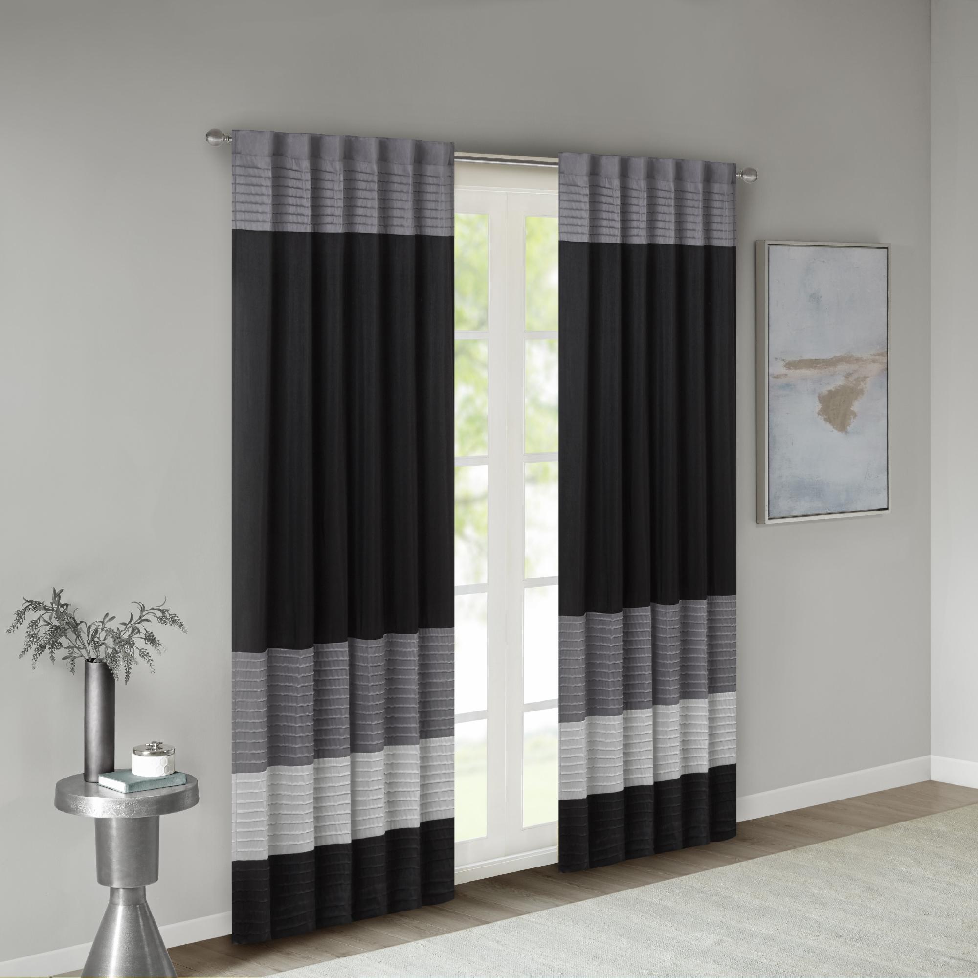 Home Essence Salem Polyoni Pintuck Lined Window Panel
