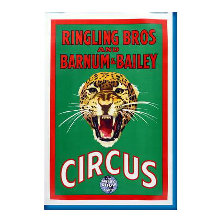 Ringling Bros Circus Leopard Poster