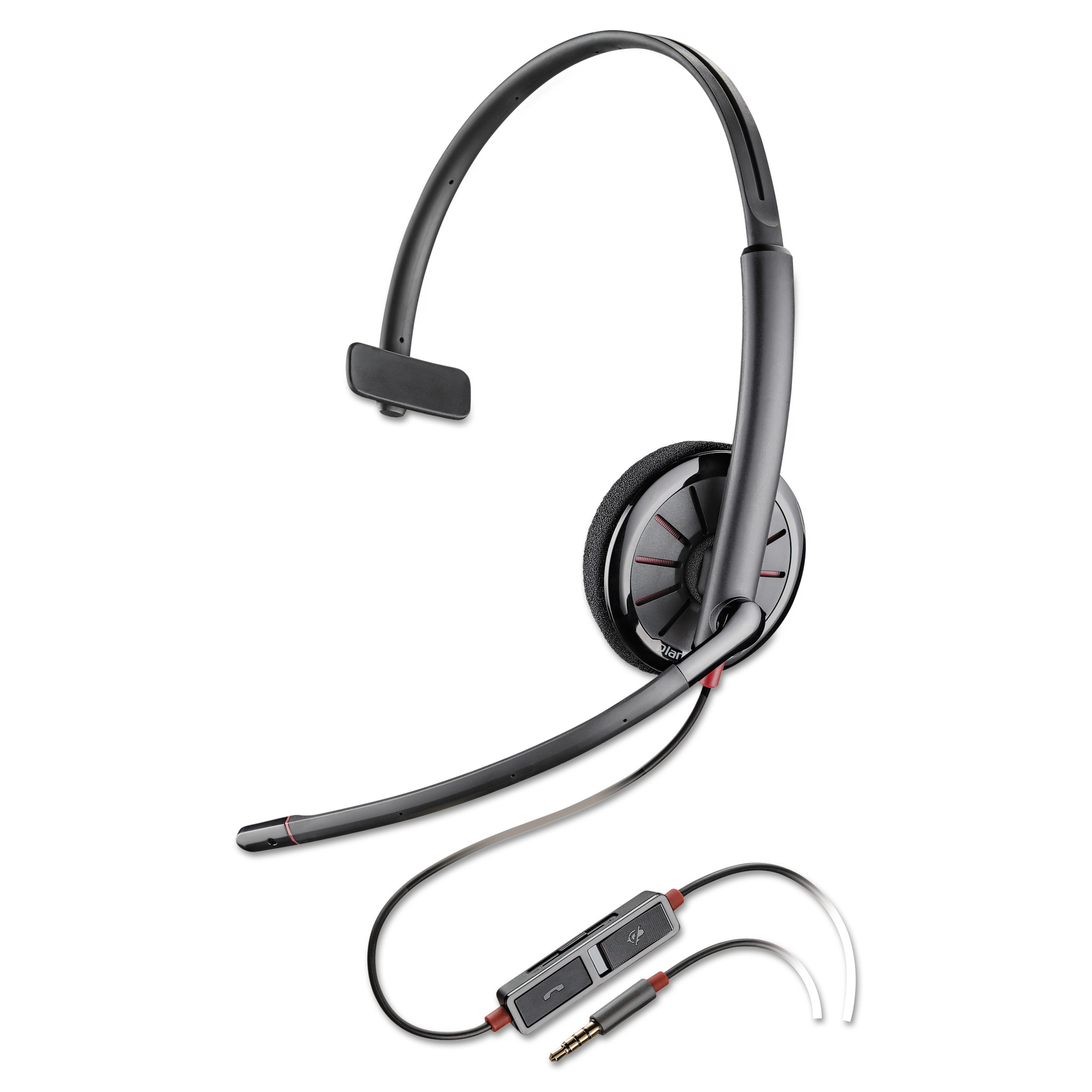 Plantronics Blackwire C215 Monaural Over-the-Head Headset