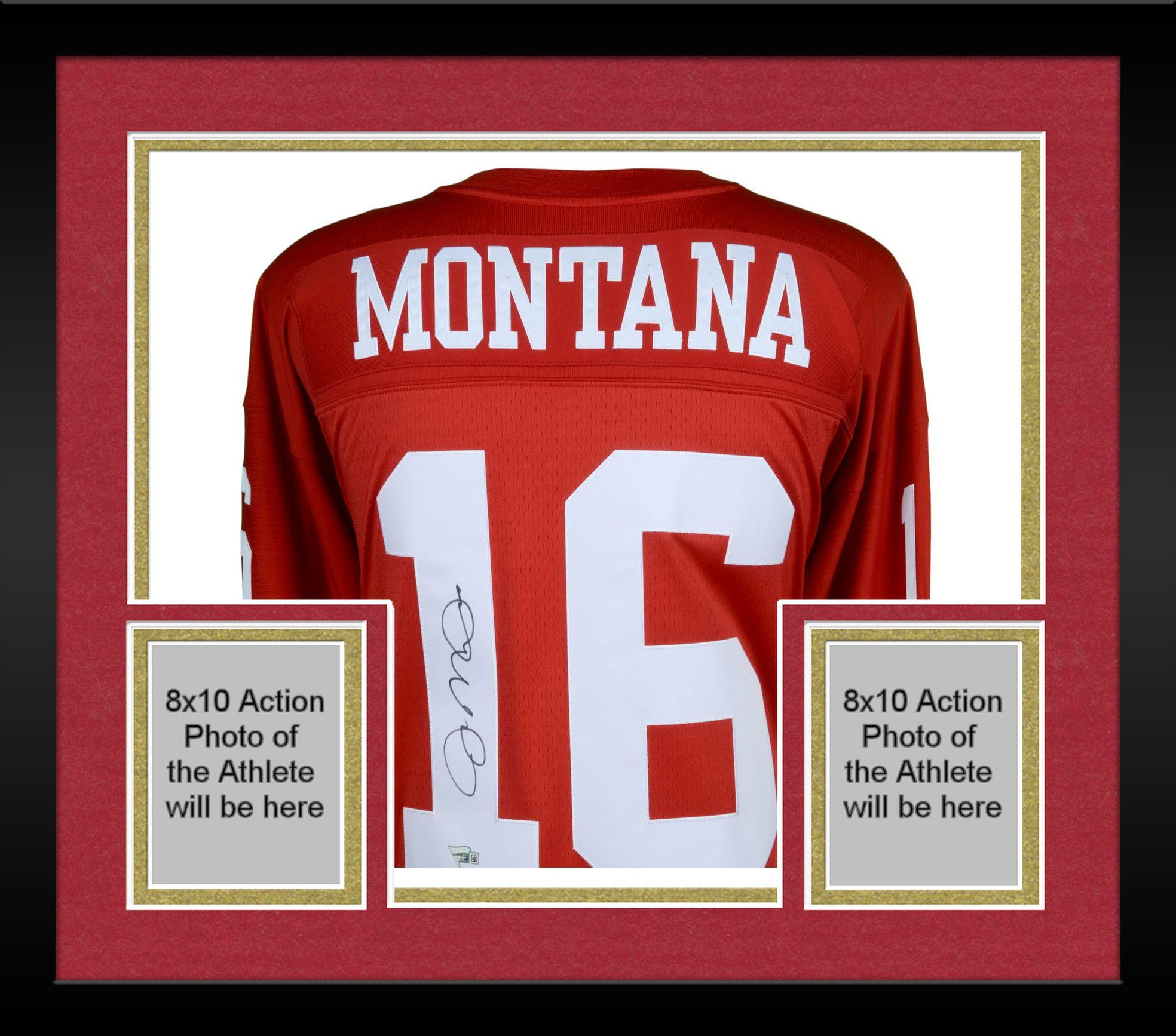 cheap for discount 770a7 429fd Framed Joe Montana San Francisco 49ers Autographed Mitchell & Ness Red  Replica Jersey - Fanatics Authentic Certified