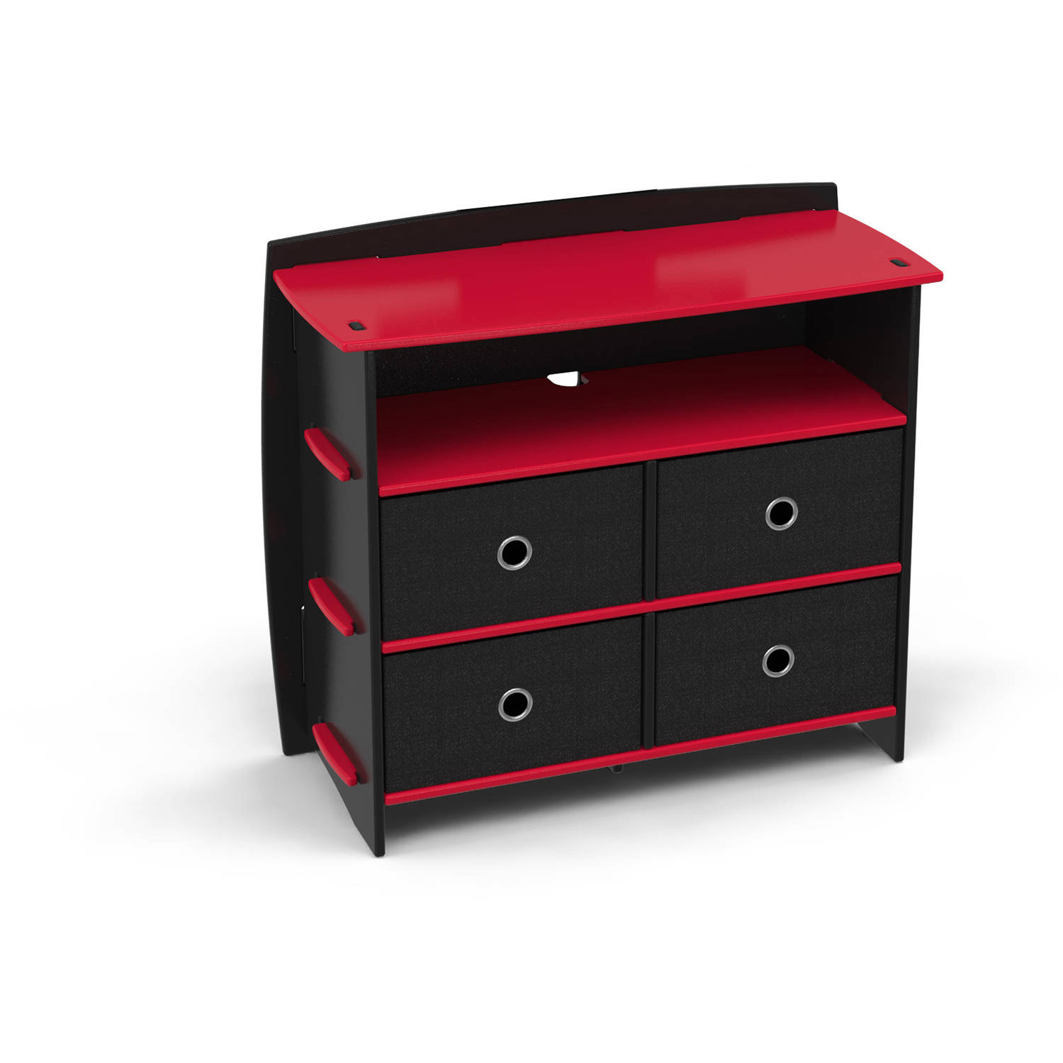 Legare Kids Furniture Red Race Car Collection 4-Drawer Dresser, Red and Black by Kittrich Corporation