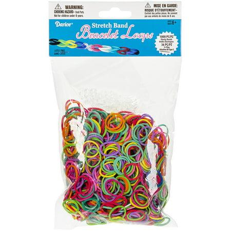 f23588d1 Mini Rubber Bands, Assorted colors 1000 bands and 36 S clips - Walmart.com