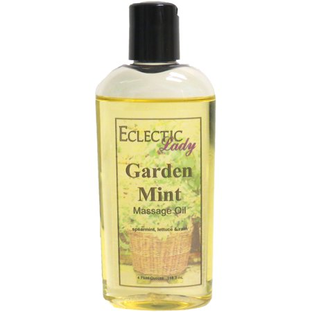 Garden Mint Massage Oil, 4 oz