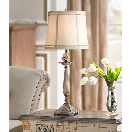Brilliant Regency Hill Chic Table Lamp Antique White Washed Petite Artichoke Font Beige Fabric Bell Shade For Living Room Family Bedroom Machost Co Dining Chair Design Ideas Machostcouk