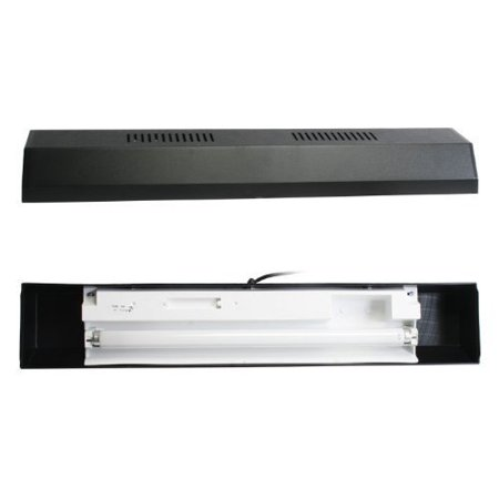 Perfecto Manufacturing APF26242 Marineland Fluorescent Perfect-a-Strip Light Reflector for Aquarium, 24-Inch, Black