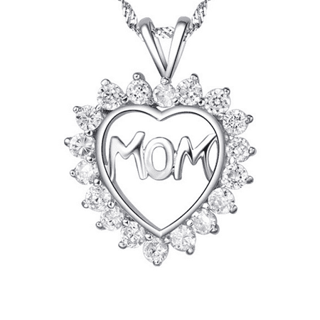 F.S. Mom's CZ Heart Pendant- MOTHER'S DAY SPECIAL - image 4 de 4