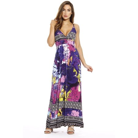 Just Love Maxi Dresses for Women / Summer Dresses (Artistic Floral, 2X)