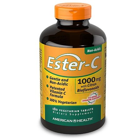 - American Health Ester-C with Citrus Bioflavonoids 1000 mg Vegetarian Tablets, 180 Ct