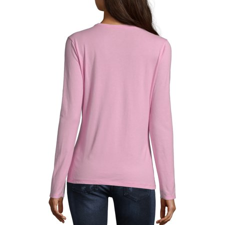 Hanes Women's Long Sleeve V-neck -