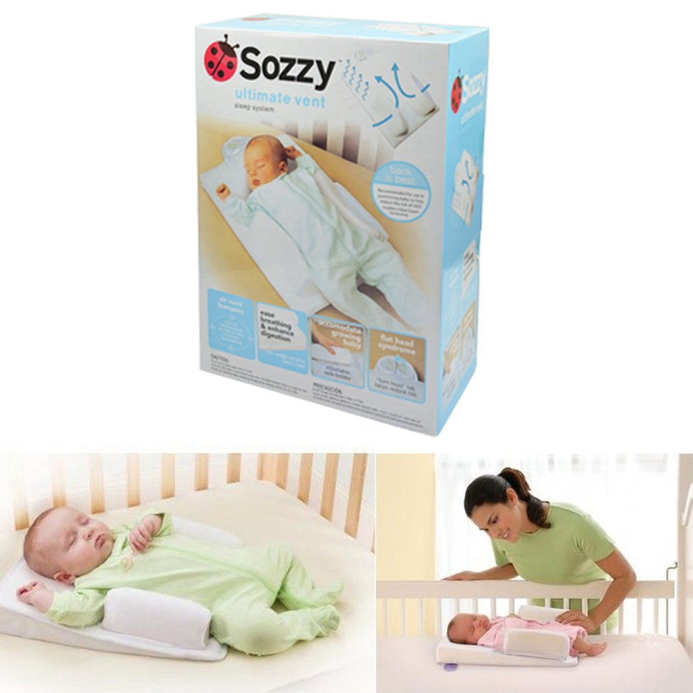 Newborn Anti Roll Pillow Sleep Fixed Positioner Prevent Flat Head Cushion