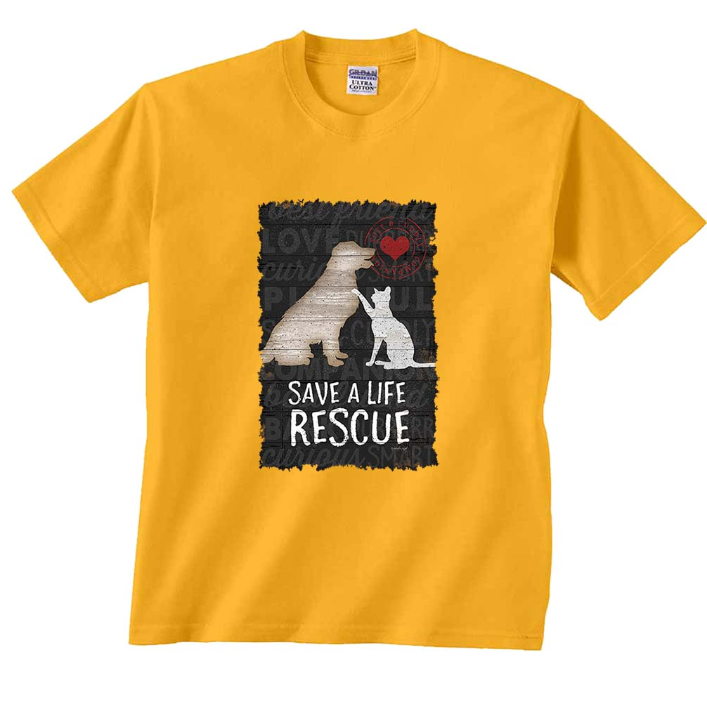 Save a Life Rescue Cat Dog T-Shirt