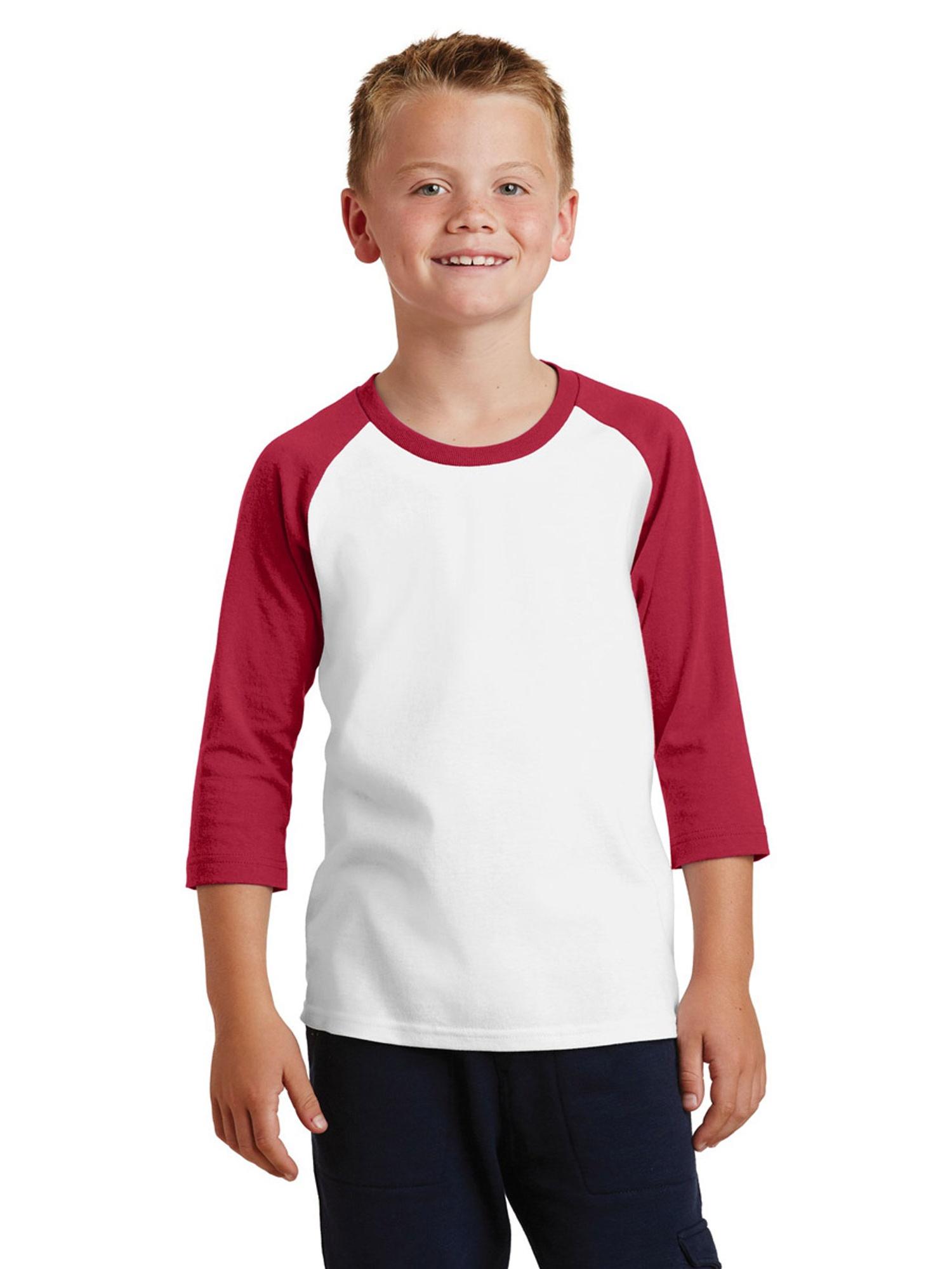 Port & Company® Youth 3/4-Sleeve Raglan T-Shirt