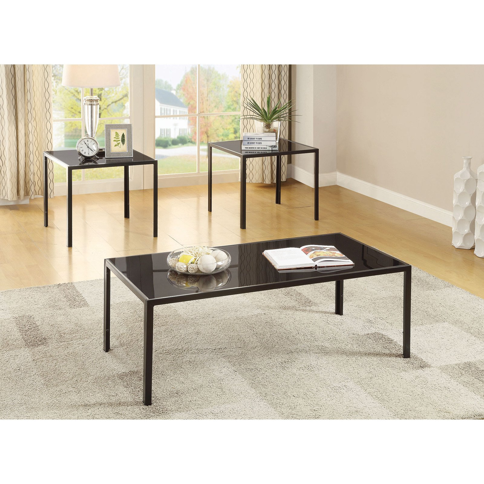 Coaster Company 3-Piece Occasional Table Set, Antique Pewter