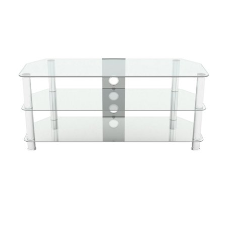 AVF Classic Corner Glass TV Stand with Cable Management for 55