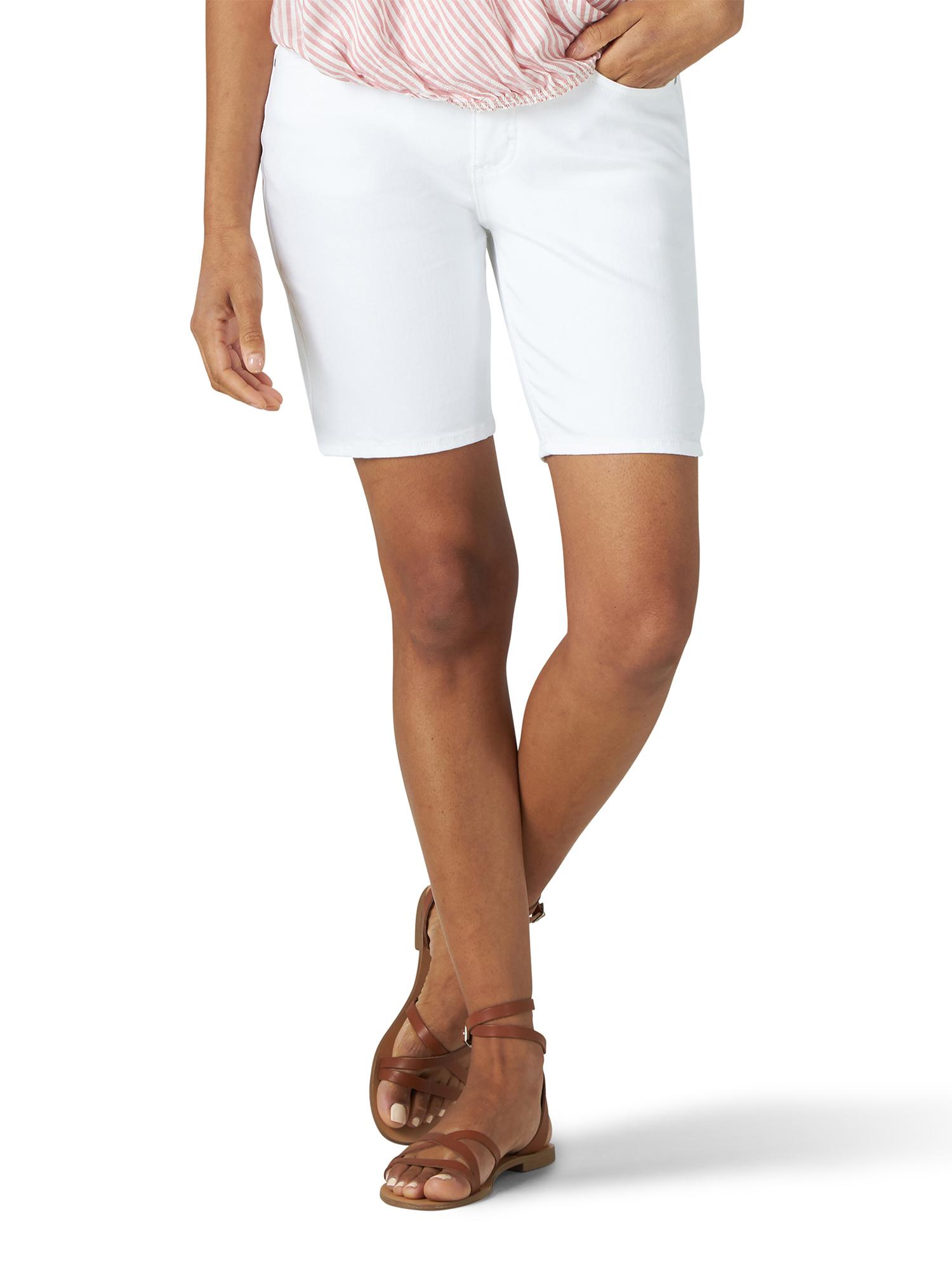Women/'s Old Navy White Mid-Rise Cuffed Bermuda Shorts 2 6 16 12 8 10 4