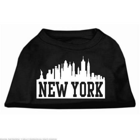 New York Skyline Screen Print Shirt Black XS 8