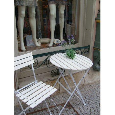 Canvas Print Garden Table Garden Furniture Seat Stretched Canvas 10 x