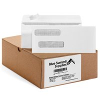 Blue Summit Supplies #8 Self Seal Envelopes, Double Window, 500/box