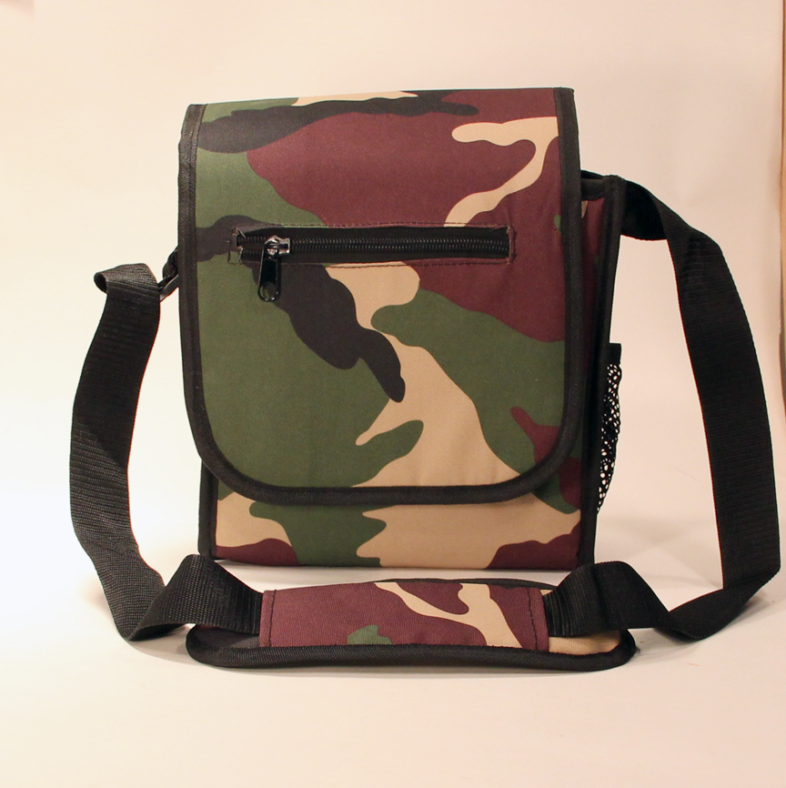 Zeekio Shoulder Pouch-Style Disc Golf Bag (Camo) by