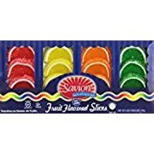 Savion Fruit Flavored Slices Fat Free 12 Pieces KFP 6 Oz. Pack Of 3.