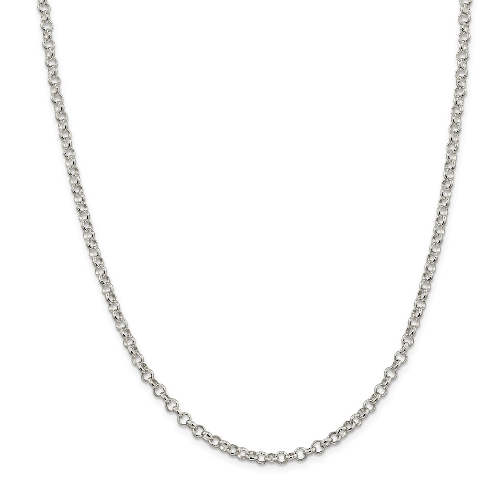 Sterling Silver 4.0mm Rolo Chain Necklace
