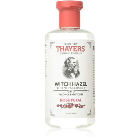 THAYERS Rose Petal Witch Hazel Toner - Alcohol Free & Organic Aloe Vera 12oz Devils Claw Organic Alcohol
